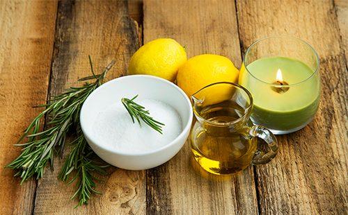 Оливковое масло, кефир и лимоны
