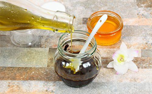 Приготовление скраба из оливкового масла